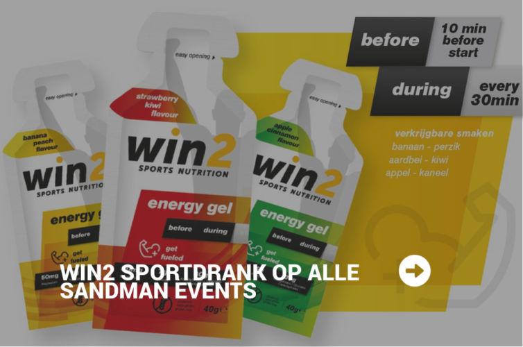 Sandman Events gaat samenwerking aan met Win2 Sports Nutrition